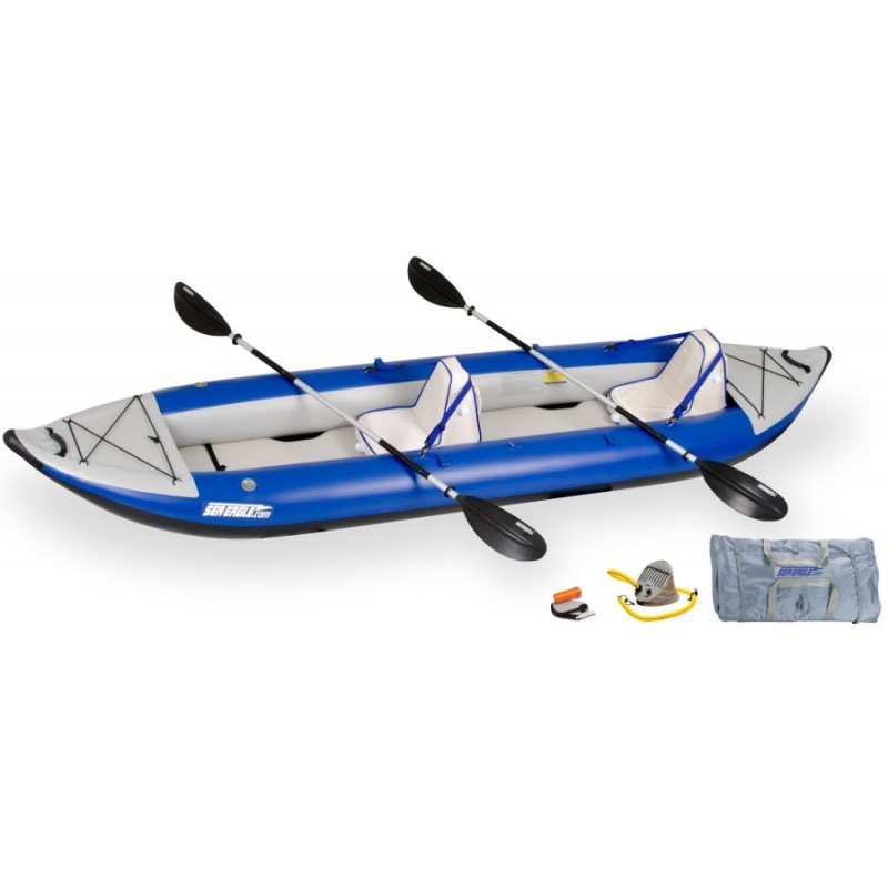 Sea Eagle 420X 14ft Inflatable Kayak Incl Seats Paddles and
