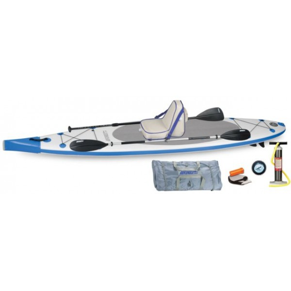 Sea Eagle NeedleNose SUP Inflatable Paddle Board LongBoard 12ft Deluxe Package